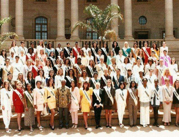 Didie Schackman bij Miss World in Zuid-Afrika