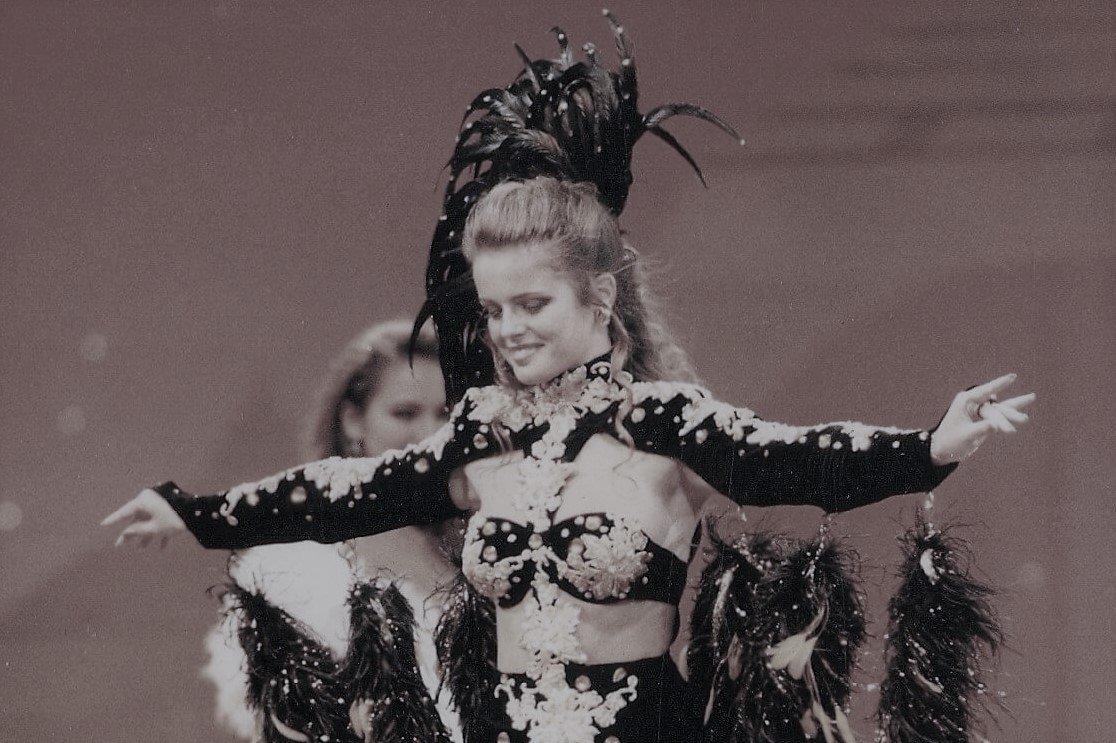Didie bij Miss World Show Zuid-Afrika 1995