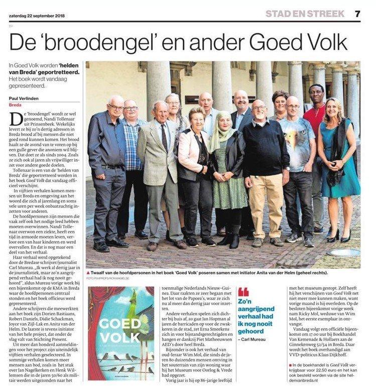 heldenboek in de krant