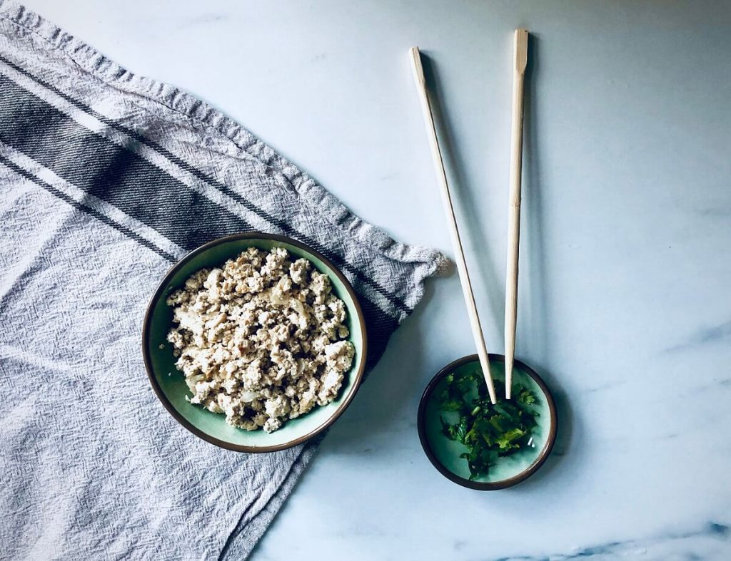 boeddhistisch eten met tofu