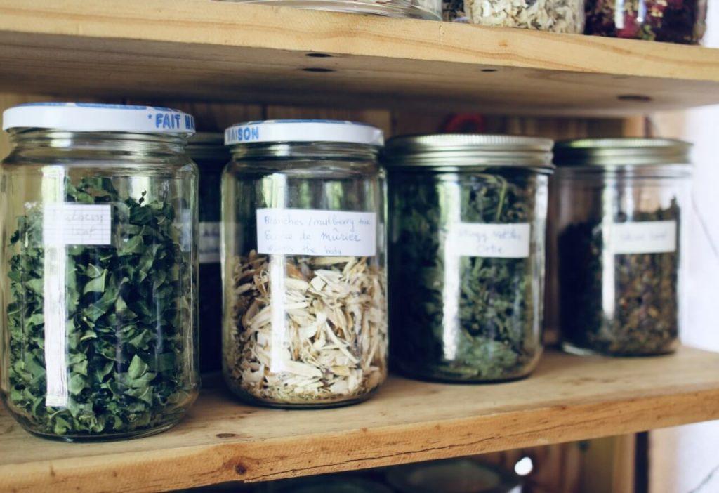 kruiden voor boeddhistische recepten in zen klooster