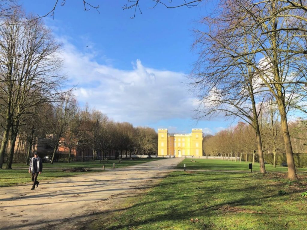 kasteel bij het atelier in Belgie