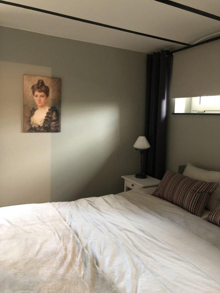 mijn slaapkamer in het atelier