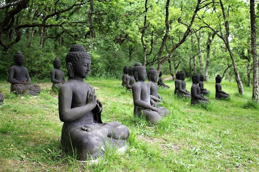 boeddhain het klooster