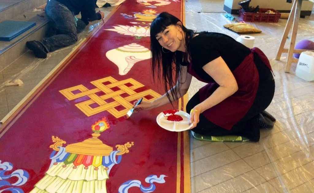 retraite schilderen en tibetaans boeddhisme